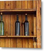 Five Bottles Metal Print