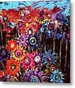Flower Garden Metal Print by Karen Elzinga
