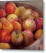 Food - Peaches - Farm Fresh Peaches  Metal Print by Mike Savad