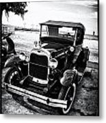Ford Model T Film Noir Metal Print by Bill Cannon