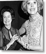 Former First Lady Visits Carol Channing Metal Print by Everett