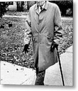 Former President Harry Truman Walks Metal Print by Everett