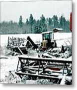 Frozen Field Metal Print