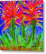 Funky Flower Towers Metal Print