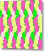 Funky Stripes Metal Print