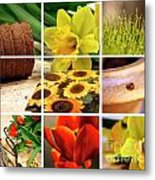 Garden Collage Metal Print