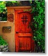 Garden Doorway Metal Print by Perry Webster