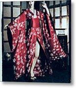 Geisha Metal Print by Maynard Ellis