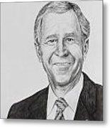 George W. Bush Metal Print by Daniel Young