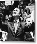 George Wallace Acknowledges The Cheers Metal Print by Everett