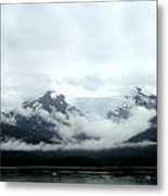 Glacier Mountain Metal Print