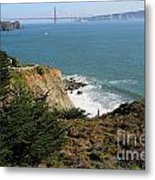 Golden Gate Bridge Viewed From The Marin Headlands Metal Print