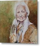 Grandmother Many Horses Metal Print by Patsy Sharpe