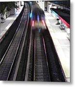 Great Neck Train Station Metal Print by Stephen Walker