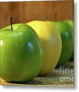 Green And Yellow Apples Metal Print