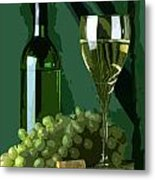 Green Is White Metal Print by Elaine Plesser