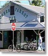 Green Parrot Bar In Key West Metal Print