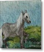 Grey Horse Metal Print by Nicole Besack