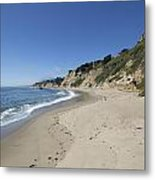 Greyhound Rock State Beach Panorama - Santa Cruz - California Metal Print