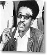 H. Rap Brown, Chairman Of The Student Metal Print