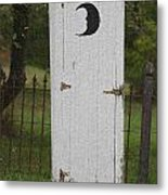 Halloween Outhouse Metal Print by Marilyn West