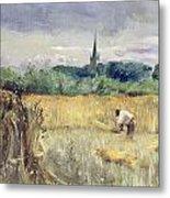 Harvest Field At Stratford Upon Avon Metal Print