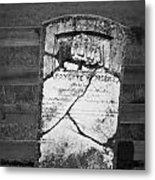 Headstone Of Lafayette Meeks Metal Print by Teresa Mucha