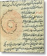 Heavenly Spheres, Islamic Astronomy Metal Print by Science Source