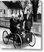 Henry Ford In His First Automobile Metal Print