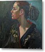 Her Kimono Metal Print by Lilibeth Andre