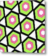 Hexagon Metal Print by Louisa Knight