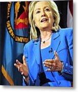 Hillary Clinton, Us Secretary Of State Metal Print