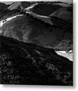 Hills Of Light And Darkness Metal Print