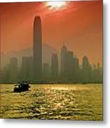 Hong Kong Sunset Metal Print