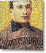 Honus Wagner Mosaic Metal Print by Paul Van Scott