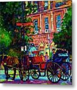 Horsedrawn Carriage Metal Print