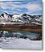 Horsetooth Reservoir Winter Scene Metal Print