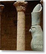 Horus Temple Of Edfu Egypt Metal Print by Bob Christopher