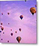 Hot Air Balloon Race - 1 Metal Print