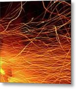 Hot Sparks Metal Print by Carlos Caetano