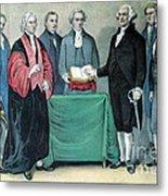Inauguration Of George Washington, 1789 Metal Print by Photo Researchers
