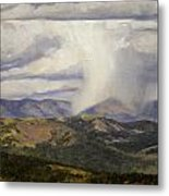 Isolated Showers Metal Print by Victoria  Broyles