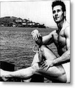 Jack Lalanne Before Handcuffed Swim Metal Print by Everett
