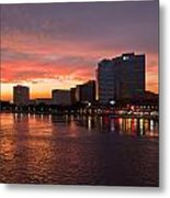 Jacksonville Skyline Night Metal Print