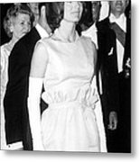 Jacqueline Kennedy At A Dinner To Honor Metal Print by Everett