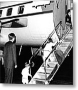 Jacqueline Kennedy Is Welcomed Home Metal Print by Everett