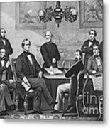 Jefferson Davis, Cabinet Metal Print by Photo Researchers