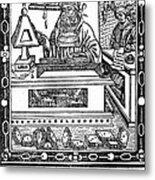 John Peckham, Anglican Theologian Metal Print by Science Source