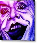 Joker Neon Metal Print by Michael Mestas