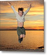 Jumping For Joy Metal Print by Ted Kinsman